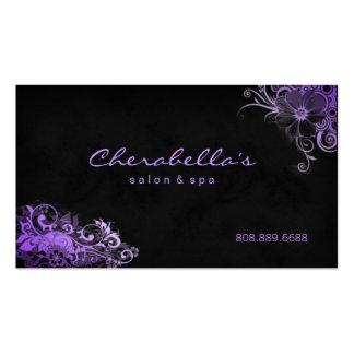 Pourpre floral de carte de rendez-vous de spa à la cartes de visite personnelles