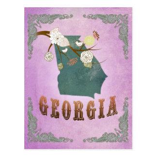 Pourpre vintage moderne de raisin de carte d'état  cartes postales