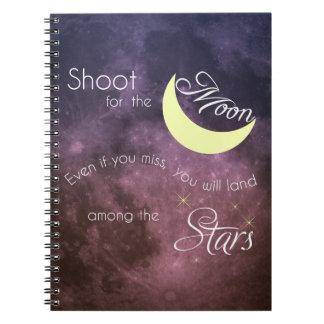 Pousse pour le carnet inspiré de photo de lune