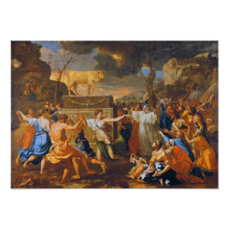 Poussin The Adoration Of The Golden Calf Large For Poster