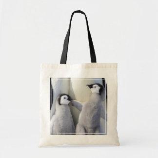 Poussin vilain de pingouin d'empereur sac en toile budget