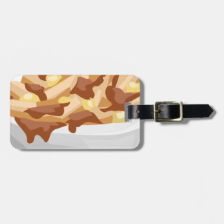 poutine luggage tag