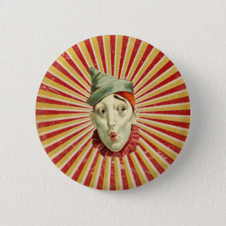 Pouting Vintage Circus Clown 2 Inch Round Button