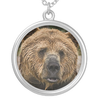 Pouty Bear Silver Plated Necklace