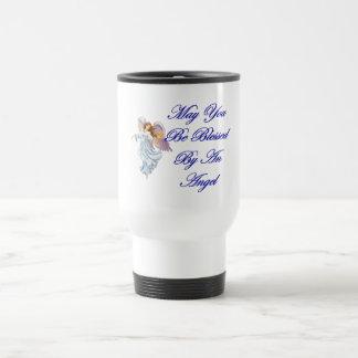 Pouvez vous être bénis par un ange mug de voyage