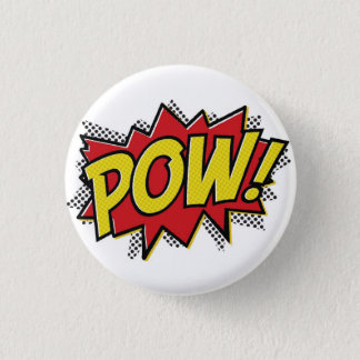 POW! 1 INCH ROUND BUTTON