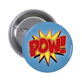 Pow! 2 Inch Round Button