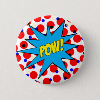Pow! 2 Inch Round Button