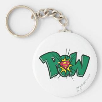 Pow Basic Round Button Keychain
