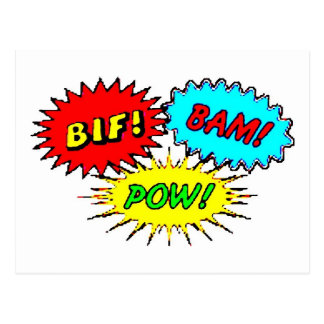 Pow Bif Bam Postcard