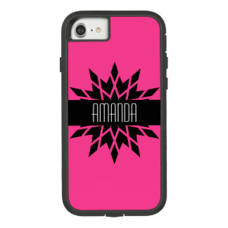 Pow! Bright Star with Name on Magenta Background Case-Mate Tough Extreme iPhone 8/7 Case