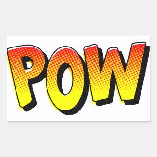 POW Comic Book Sound Effect Sticker