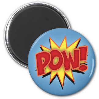 Pow! 2 Inch Round Magnet
