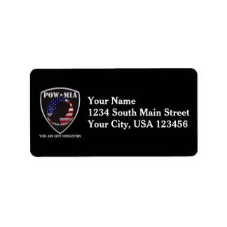POW / MIA address labels