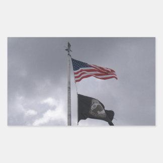 POW/MIA & American Flag Sticker