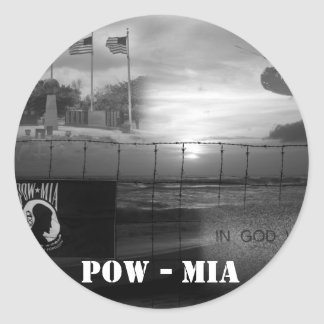 POW MIA Commemorative Stickers