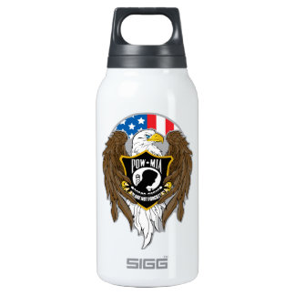 POW MIA Eagle Insulated Water Bottle
