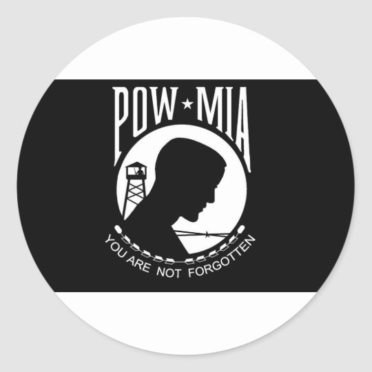 POW+MIA Flag Classic Round Sticker