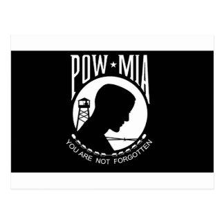 POW+MIA Flag Postcard