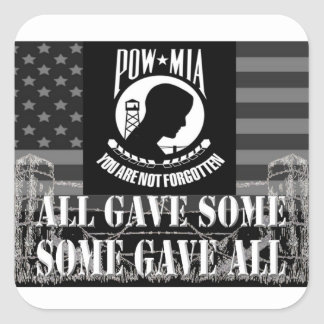 """POW-MIA"" Military Stickers"