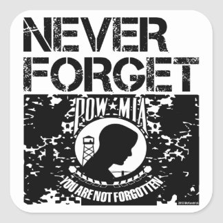 POW MIA Never Forget Square Sticker