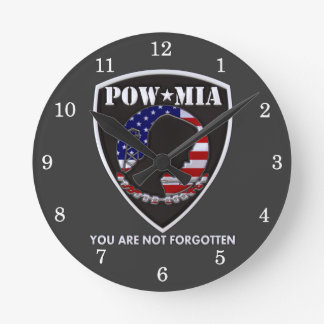 POW MIA - Shield Clocks