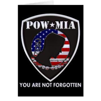 POW MIA - Shield Greeting Card