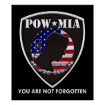 POW MIA - Shield Poster