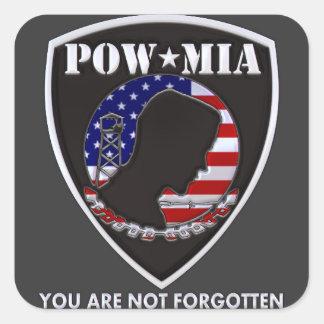 POW MIA - Shield Square Sticker