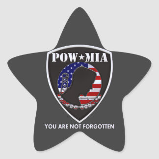 POW MIA - Shield Star Sticker