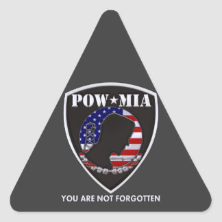 POW MIA - Shield Triangle Sticker