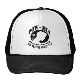 POW MIA YOU ARE NOT FORGOTTEN HERO SHIRTS TRUCKER HAT
