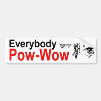 Pow_Pow Bumper Sticker