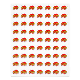 POW! - Superhero Comic Book Red/Yellow Bubble Personalized Flyer