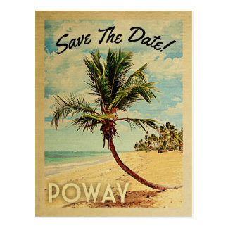 Poway California Save The Date Vintage Postcard