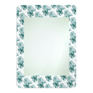 Powder and Aqua Illustrated Flowers Customize Set Card