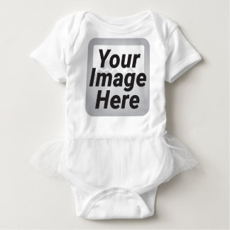 Powder Blue Abstract Low Polygon Background Baby Bodysuit