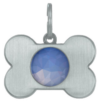 Powder Blue Abstract Low Polygon Background Pet Tag