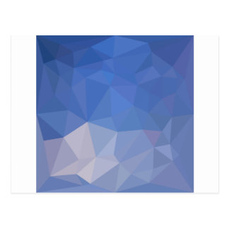 Powder Blue Abstract Low Polygon Background Postcard