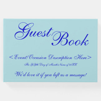 Powder Blue, Blue Generic Event Guestbook