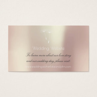 Powder Blue Blush Balet Pink Wedding Website Business Card