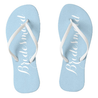 Powder Blue Bridesmaid Flip Flops