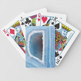 Powder Blue Geode Druzy Bicycle Playing Cards