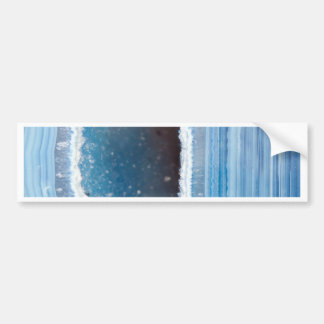 Powder Blue Geode Druzy Bumper Sticker