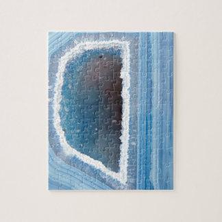 Powder Blue Geode Druzy Jigsaw Puzzle