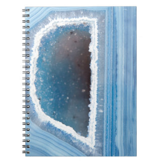 Powder Blue Geode Druzy Notebook