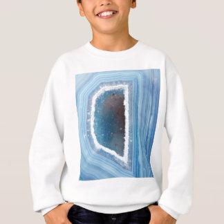 Powder Blue Geode Druzy Sweatshirt