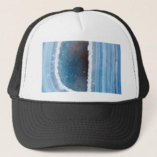 Powder Blue Geode Druzy Trucker Hat