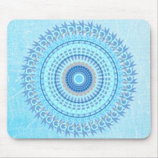 Powder Blue Mandala Mouse Pad