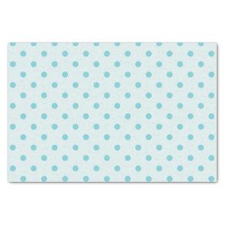 Powder Blue & Medium Blue Polka Dots Tissue Paper